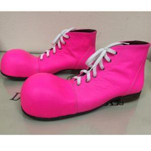 ботинки клоун розовые