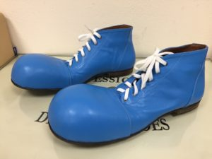 ботинки клоун синие
