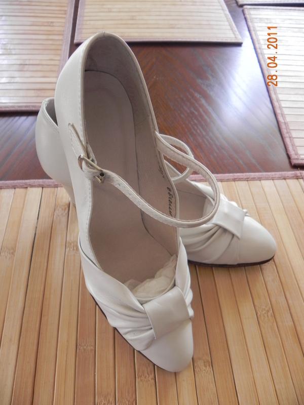 туфли сценические женские белые