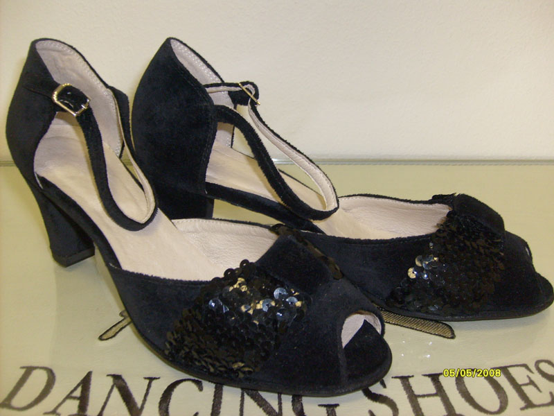 Туфли сценические женские чёрные