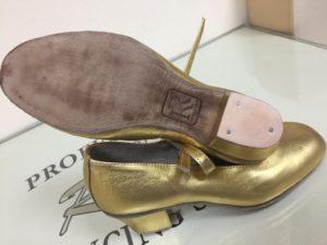туфли танцевальные женские золото