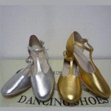 туфли танцевальные веснушки металлик