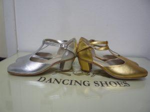 туфли танцевальные веснушки серебро