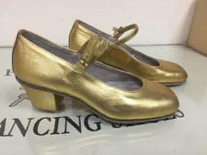 туфли танцевальные женские золото профиль